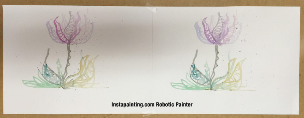 Robotically replicated flower painting