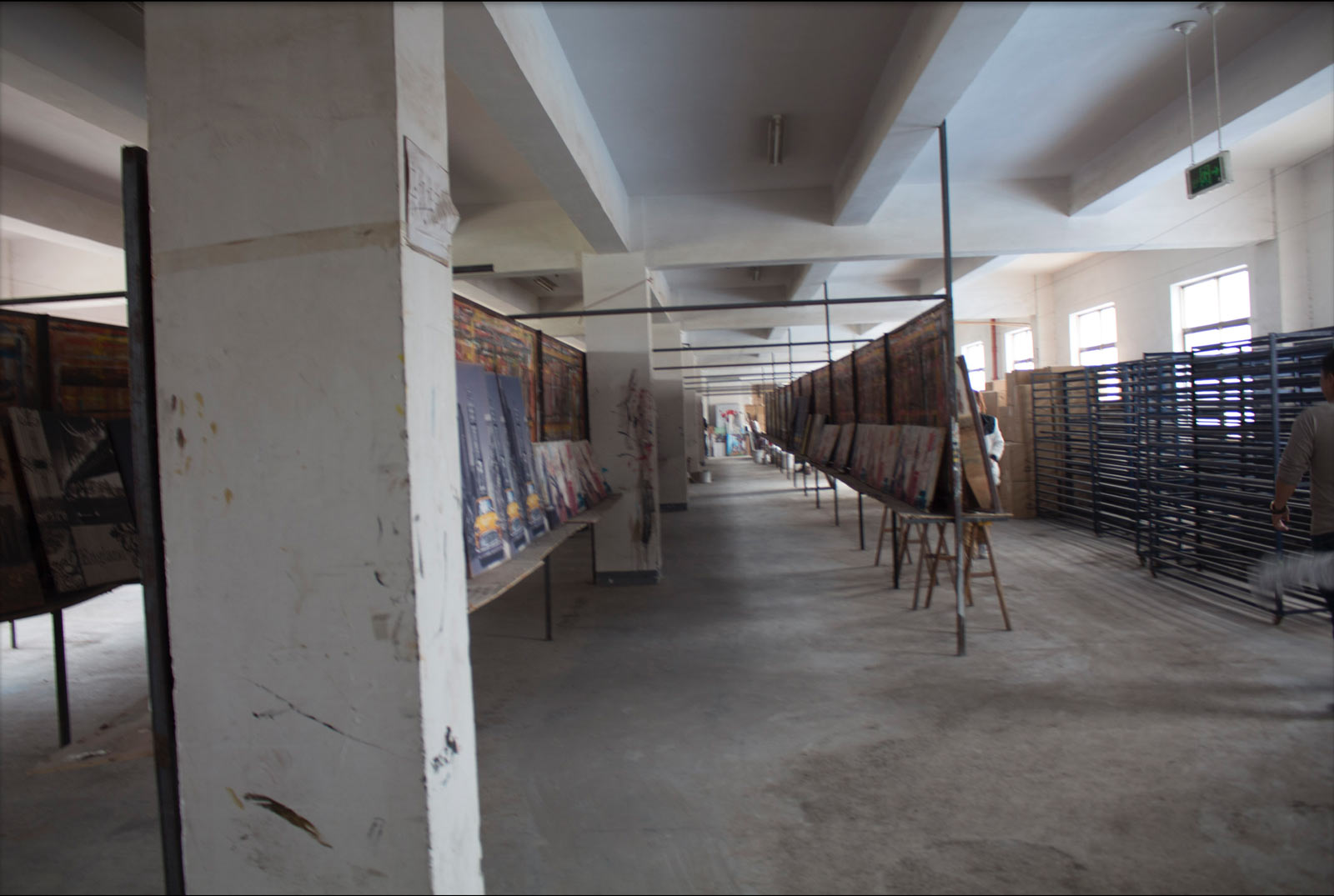A painting factory that specialized in reproductions in Yiwu