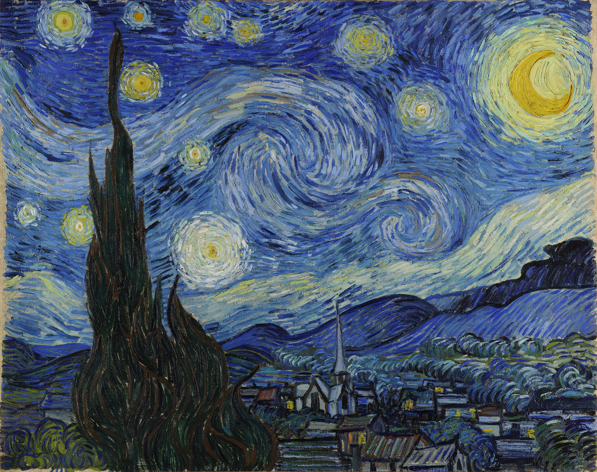 Dafen's painters make thousands of copies of famous paintings like Van Gogh's Starry Night every year.
