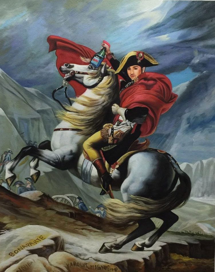 Remixed Napoleon Crossing the Alps